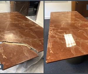 Marble table restoration