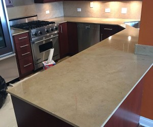 Marble kitchen restoration