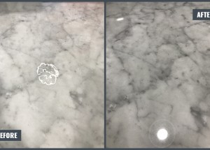 Etched mark removal (Limestone countertop)