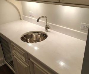 Marble kitchen counter top restoration