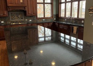 Granite Kitchen Restoration - deep clean, buff and seal