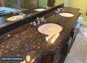 Granite countertops restoration - Deep clean, polishing and seal