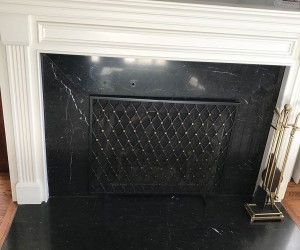 Marble fireplace restoration