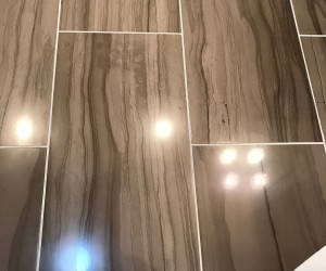 Marble floor etched mark removal