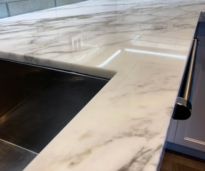 Marble kitchen after restoration