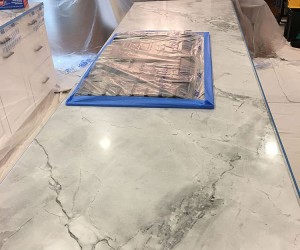 Marble kitchen honing and polishing