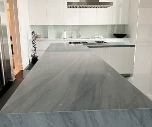Marble kitchen restoration in Chicago