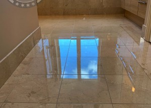 Marble floor restoration - Honing and polishing