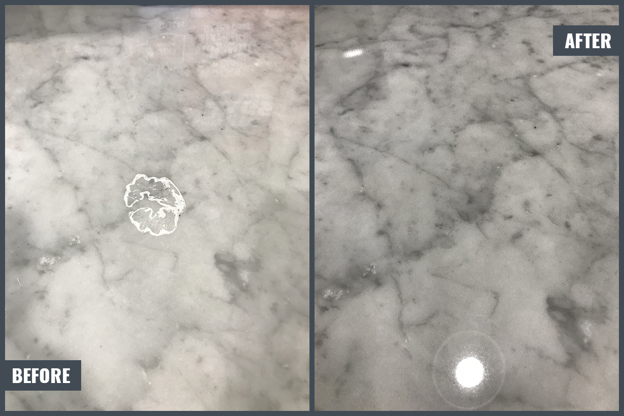 Etched Mark Removal Limestone Countertop
